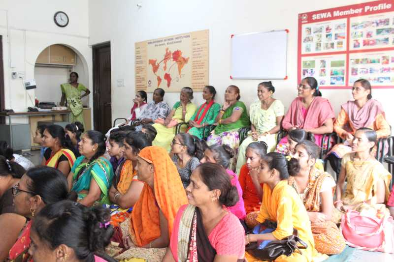 Widows from Ahmedabad who will be empowered by the Loomba Foundation & partners