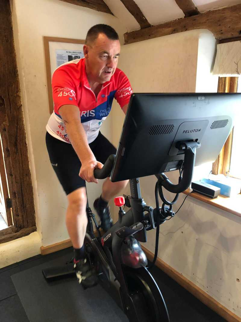 Chris Parsons Training for Cycle for Widows