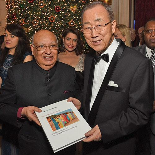 Raj Loomba and Ban Ki-Moon